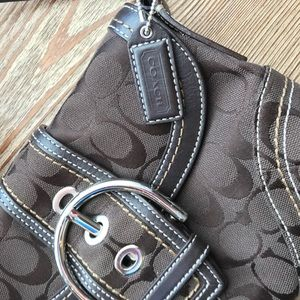 Chocolate brown Coach bag